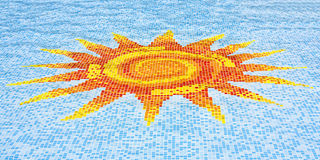 Sun mosaic Royalty Free Stock Image