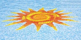 Sun mosaic Royalty Free Stock Image
