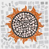 Sun. Mosaic of the Sun in  for love Royalty Free Stock Photos