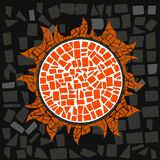 Sun. Mosaic of the Sun in  for love Royalty Free Stock Image