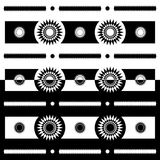 Sun motif geometric patterns. Sun motif combination with black and white color. can be used for background or home decoration motifs. Simple, elegant, vector Stock Photos