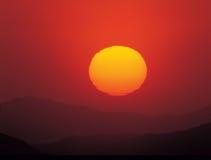 Sun on mountain royalty free stock photography
