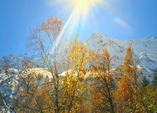 Sun in mountains Royalty Free Stock Photos