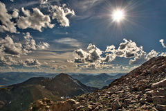 Sun at Mt Evans summit Royalty Free Stock Photography