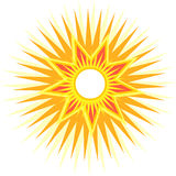 Sun with multiple rays. Illustration of a sun with multiple rays Royalty Free Stock Photography