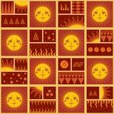 Sun-Muster Lizenzfreie Stockfotos
