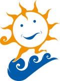 Sun na água Imagens de Stock Royalty Free