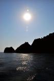 Sun na água Fotos de Stock Royalty Free