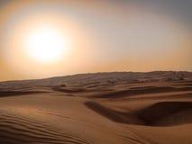 The Sun na areia Imagem de Stock