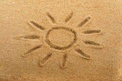 Sun na areia Imagens de Stock Royalty Free