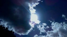 The Sun na chmurnym dniu Zdjęcia Royalty Free