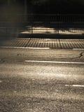 Sun na estrada Fotos de Stock Royalty Free