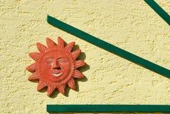 Sun na fachada no.1 da casa Foto de Stock
