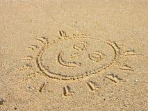 Sun na praia Imagem de Stock