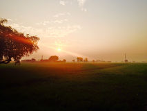 Sun na terra Foto de Stock