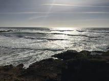 Sun nas ondas Imagens de Stock
