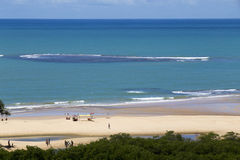 Sun, nature and quiet on the beach of Trancoso Royalty Free Stock Images