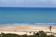 Sun, nature and quiet on the beach of Trancoso Royalty Free Stock Photography