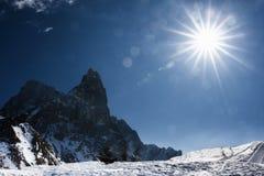Sun Nature Snow Mountain Landscape Winter Royalty Free Stock Photos