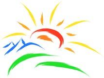 Sun nature symbol Stock Images
