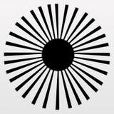 Sun negro Ray en pendiente gris y blanca Imagen de archivo libre de regalías