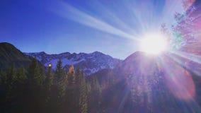 Sun nei mouintains Fotografie Stock