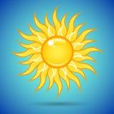 Sun nel cielo Immagine Stock