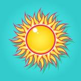 Sun nel cielo Fotografia Stock Libera da Diritti
