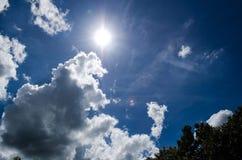 Sun nel cielo Fotografie Stock