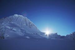 Sun nella montagna Immagini Stock Libere da Diritti