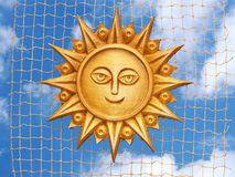 Sun nella rete fotografia stock