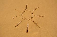 Sun nella sabbia Immagine Stock Libera da Diritti