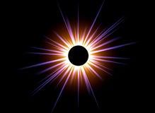 Sun nero Immagini Stock