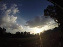 Sun. The nice sunset in CDMX hero4 Stock Images