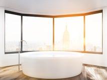 Sun no banheiro de New York ilustração do vetor