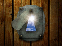 Sun no buraco da fechadura retro Imagem de Stock Royalty Free