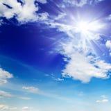 Sun no céu Fotografia de Stock