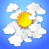 Sun no céu azul Fotos de Stock Royalty Free