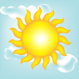 Sun no céu desobstruído Ilustração do Vetor