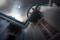 Sun no céu escuro Imagens de Stock