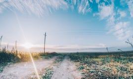 Sun no campo Fotografia de Stock
