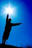 Sun no controle Imagens de Stock