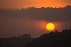 Sun no crepúsculo Fotos de Stock