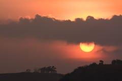 Sun no crepúsculo Foto de Stock Royalty Free