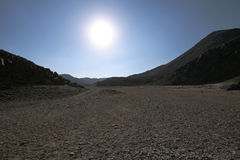 Sun no deserto Foto de Stock Royalty Free