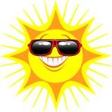 Sun nos vidros Fotografia de Stock Royalty Free