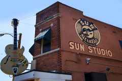 Sun notieren das Studio, das vom Rock-and-Rollpionier Sam Phillips in Memphis Tennessee USA geöffnet ist Stockbilder