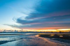 Sun, nuvole e cielo, mare fotografia stock