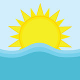 Sun and ocean Stock Photography
