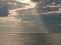 Sun on the Ocean Stock Image